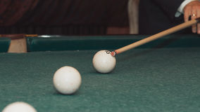 A man plays Billiards royalty free stock images
