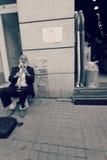 Man Plays Clarinet Royalty Free Stock Image