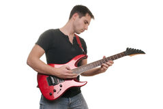 Man plays the guitar Royalty Free Stock Photography