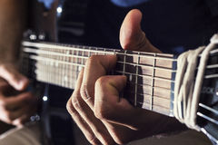 Man plays guitar Royalty Free Stock Photo