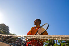 Man Plays Tennis Royalty Free Stock Photo