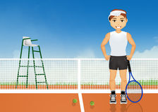 Man plays tennis. Illustration of man plays tennis Royalty Free Stock Photos