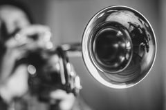 Man plays the trumpet Stock Photography