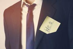 Man pocket on paper idea. Man pocket on paper writin idea Royalty Free Stock Photos