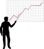 Man point to diagram Stock Image