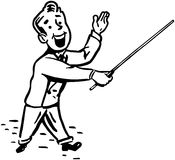 Man With Pointer Stick Royalty Free Stock Image