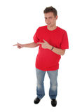 Man pointing Stock Images