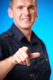 Man pointing Stock Image
