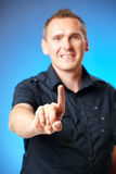 Man pointing Royalty Free Stock Photography
