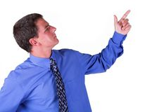 Man pointing Stock Photography
