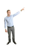 Man pointing above Stock Photography