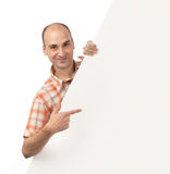 Man pointing at blank Billboard Royalty Free Stock Images
