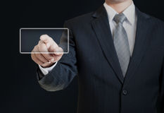 Man pointing into the blank Stock Image