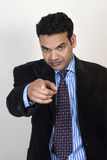 Man Pointing The Finger royalty free stock images