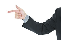 Man pointing finger Stock Image