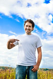 Man pointing the finger Royalty Free Stock Image