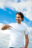 Man pointing the finger Stock Photography