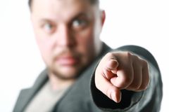 Man pointing with finger Stock Photography