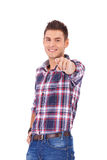 Man pointing with finger Royalty Free Stock Images