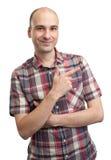 Man pointing finger Stock Photos