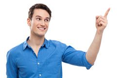 Man pointing finger Royalty Free Stock Photo