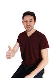 Man pointing finger. Royalty Free Stock Image