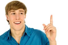 Man pointing finger Royalty Free Stock Images