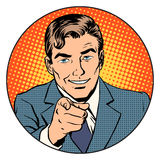 Man pointing finger in the circle Royalty Free Stock Photo