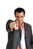 Man Pointing Finger In Camera Stock Photo