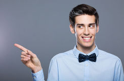 Man pointing finger Royalty Free Stock Image