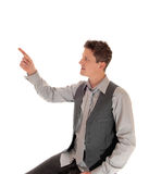 Man pointing with finger. Royalty Free Stock Photography