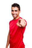 Man pointing front Royalty Free Stock Images