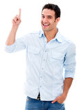 Man pointing a great idea Stock Image