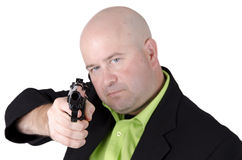 Man pointing gun Royalty Free Stock Photography