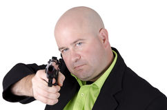 Man pointing gun Royalty Free Stock Image