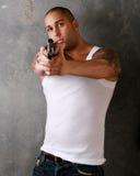 Man Pointing Gun Stock Images