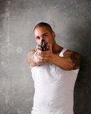 Man Pointing Gun Royalty Free Stock Photo