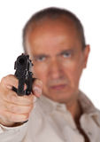 Man pointing a gun Royalty Free Stock Photos