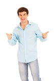 Man pointing hands Stock Image