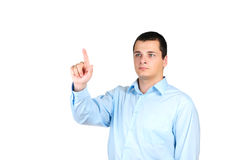 Man pointing with his finger Royalty Free Stock Image