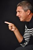 Man pointing his finger Stock Image