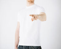 Man pointing his finger at you Royalty Free Stock Photos