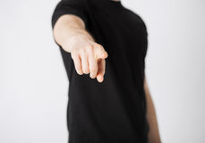Man pointing his finger at you Royalty Free Stock Photography