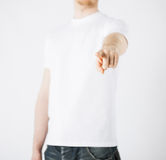 Man pointing his finger at you Stock Photography