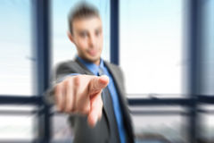 Man pointing his finger Stock Photo