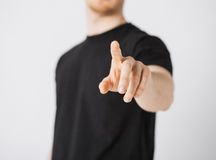 Man pointing his finger at you Royalty Free Stock Photo