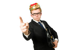 Man pointing his fingers Royalty Free Stock Images