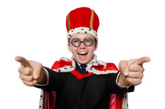 Man pointing his fingers Royalty Free Stock Image