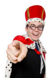 Man pointing his fingers isolated Royalty Free Stock Photos