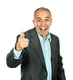 Man pointing and laughing Stock Photo